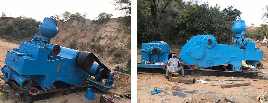 印度用户泥浆泵皮带传动系统顺利交付