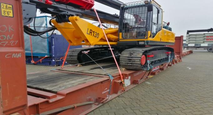 印度用户第二台LR130旋挖钻机顺利发货
